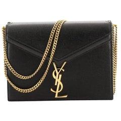 Saint Laurent Cassandra Chain Shoulder Bag Leather Small