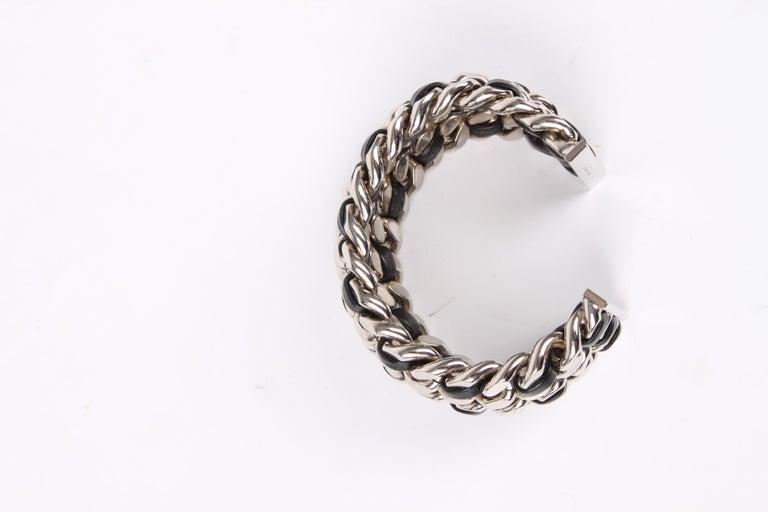 70fa72a994650 Saint Laurent Chain Cuff Bracelet - silver/black