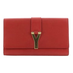 Saint Laurent Chyc Clutch Leather