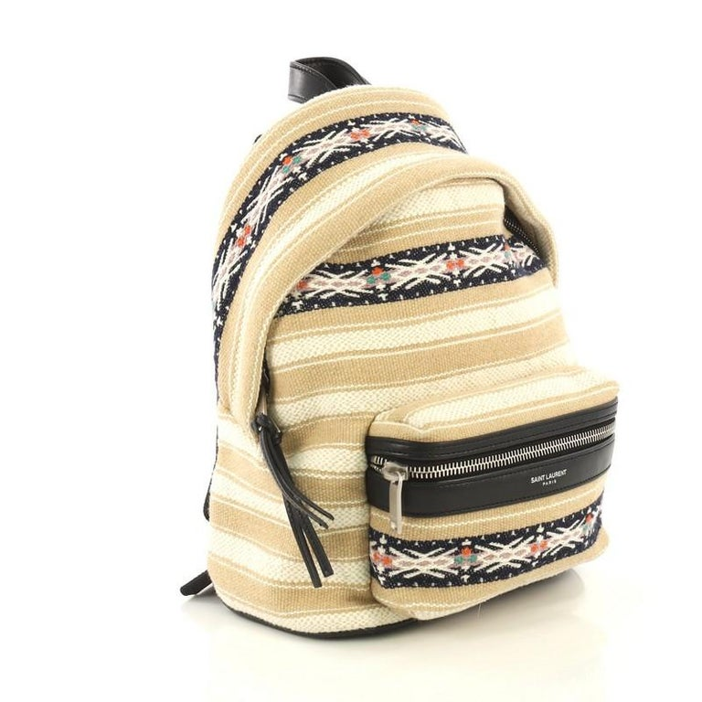 d2c78e45b1 Saint Laurent City Backpack Embroidered Canvas Toy