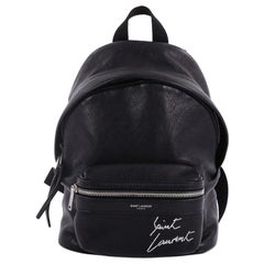 Saint Laurent City Backpack Leather Toy