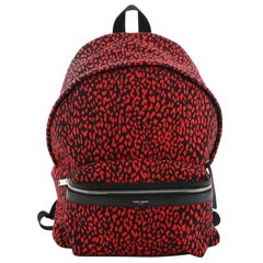 Saint Laurent  City Backpack Printed Canvas