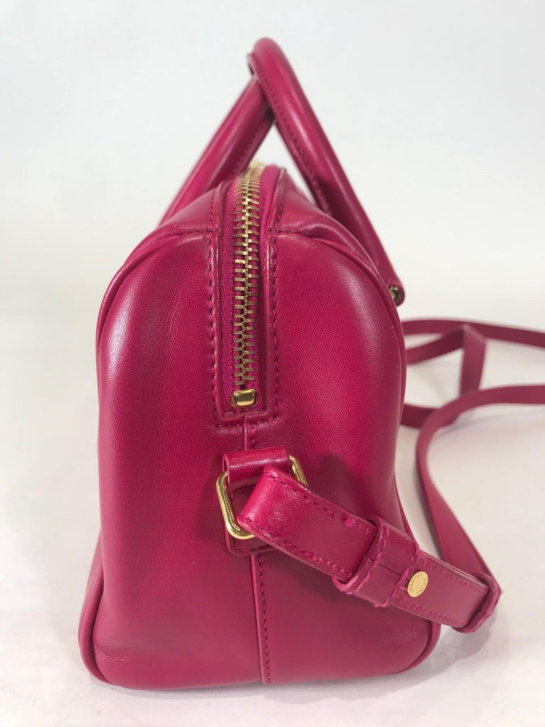 Red Saint Laurent Classic Duffle 6 Bag For Sale