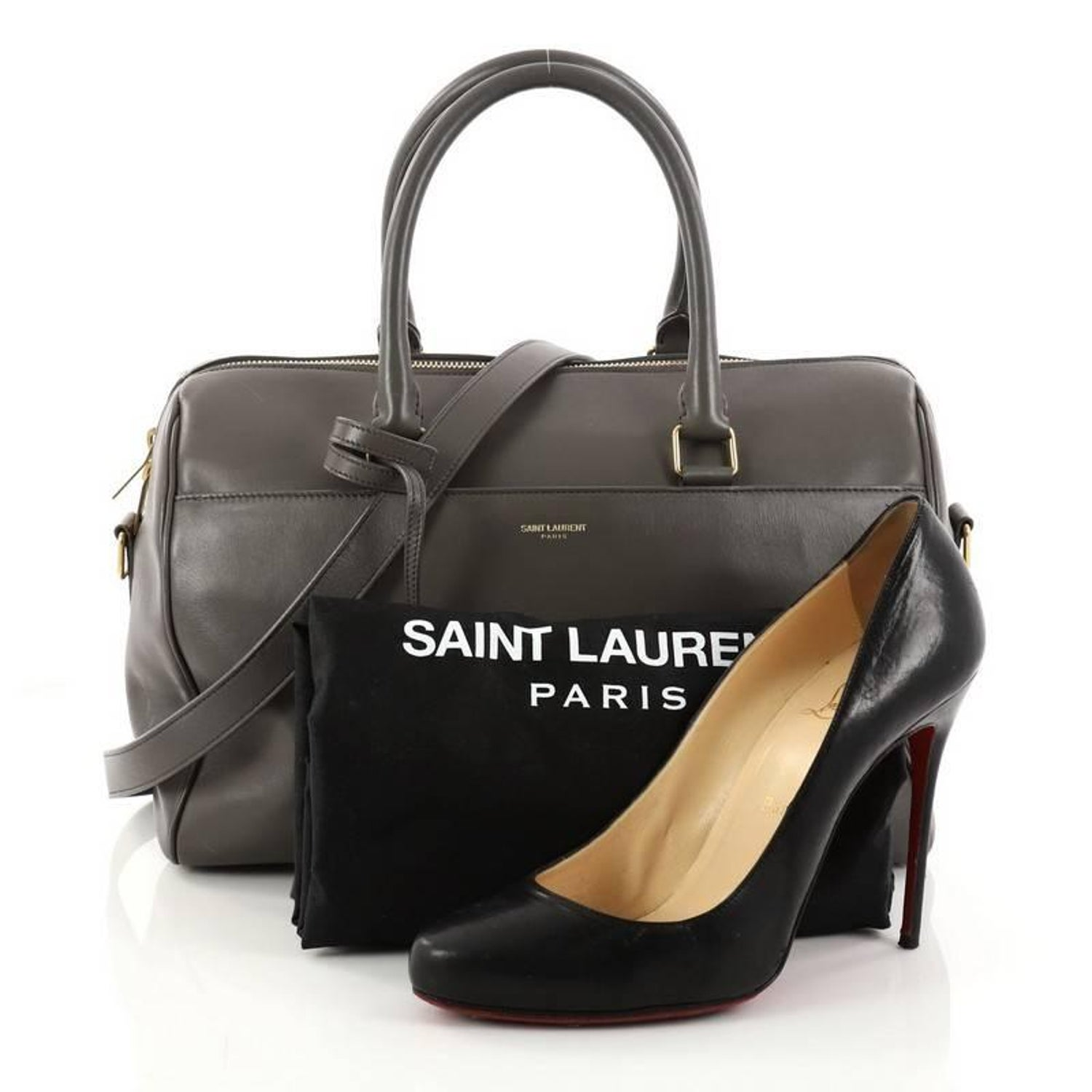 99e29cc8f618 Saint Laurent Classic Duffle Bag Leather 6 at 1stdibs