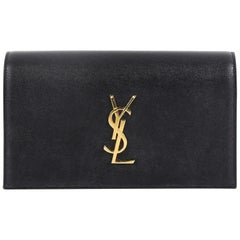 Saint Laurent Classic Monogram Clutch Leather