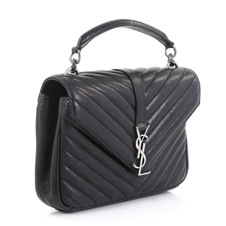 Saint Laurent Classic Monogram College Bag Matelasse