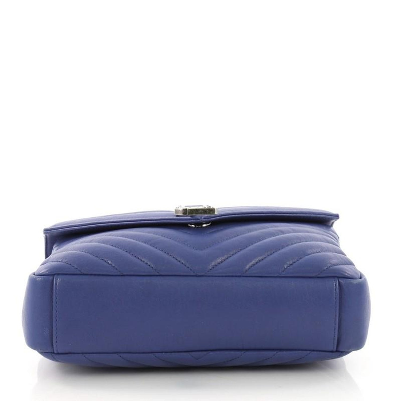 Saint Laurent Classic Monogram College Bag Matelasse Chevron Leather Medium  at 1stdibs 1edd21fcb387c