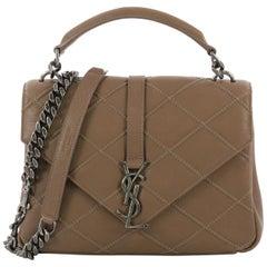 Saint Laurent Classic Monogram College Bag Quilted Leather Medium