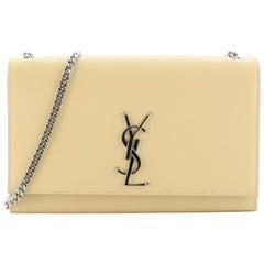 Saint Laurent Classic Monogram Crossbody Bag Grainy Leather Medium