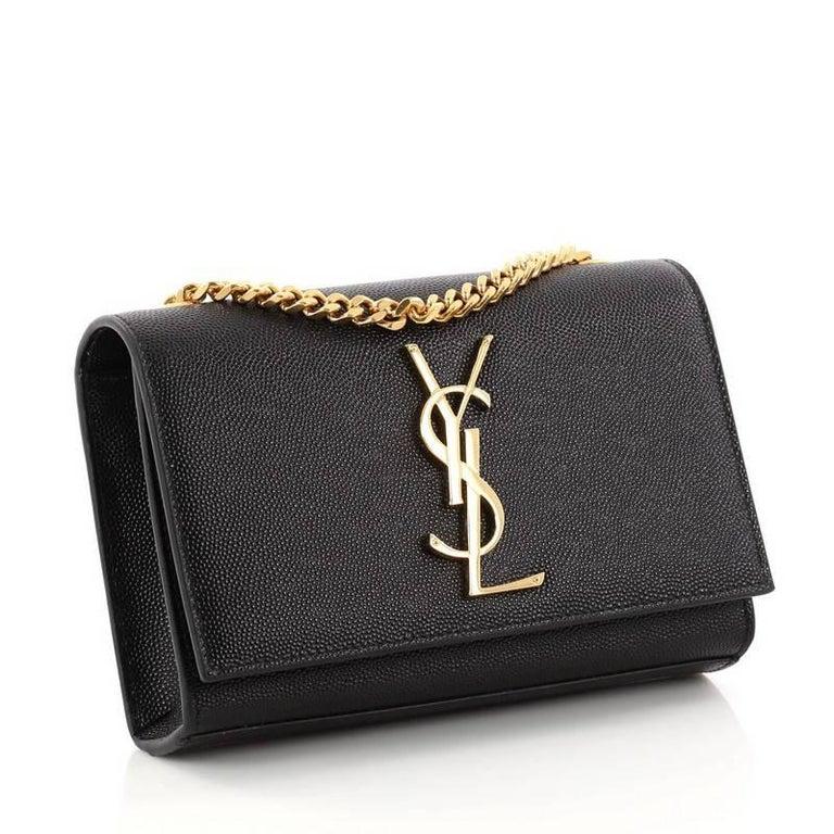 Black Saint Laurent Classic Monogram Crossbody Bag Grainy Leather Small For  Sale 255afb7945821