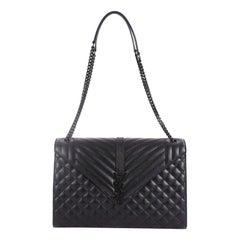 Saint Laurent, Classic Monogramm, Handtasche, gestepptes Leder, groß