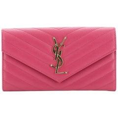 Saint Laurent Classic Monogram Flap Wallet