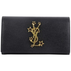 Saint Laurent Classic Monogram Flap Wallet Leather