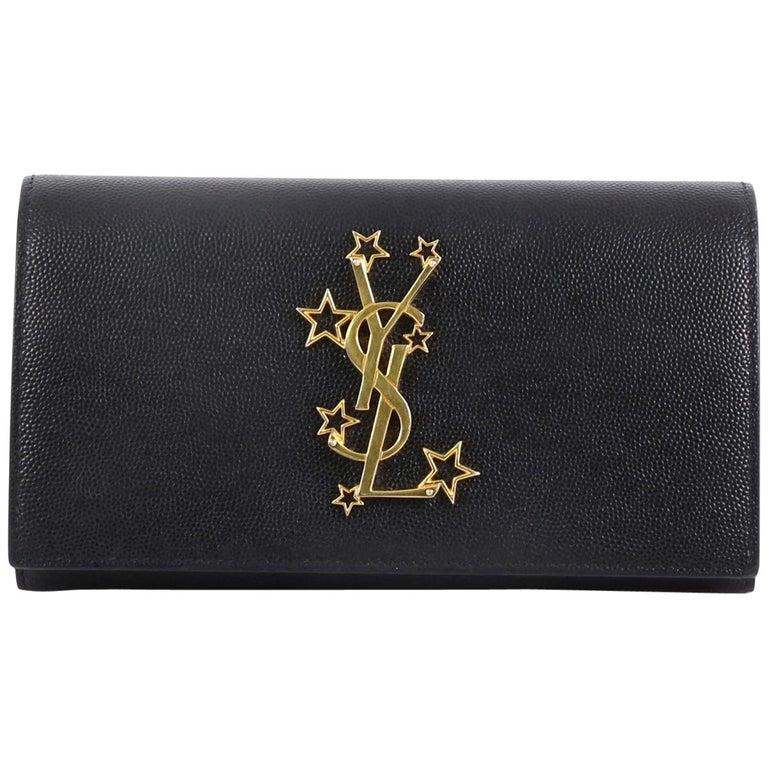 ea703609 Saint Laurent Classic Monogram Flap Wallet Leather