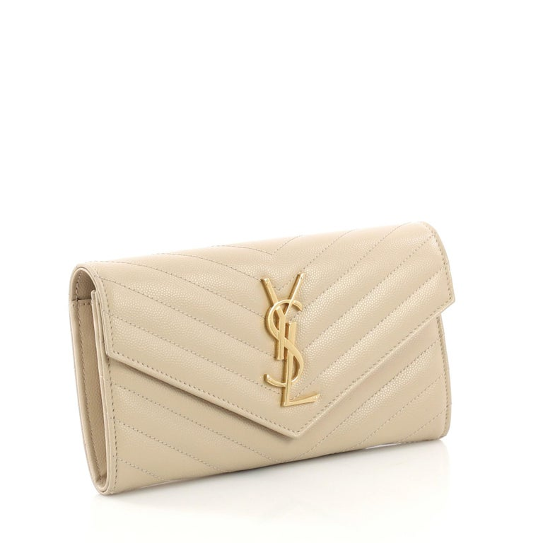 Saint Laurent Classic Monogram Flap Wallet Matelasse