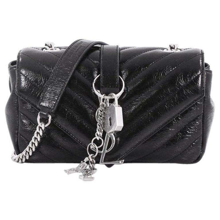 Saint Laurent Classic Monogram Punk Chain Bag Matelasse Chevron Leather Baby  For Sale 946a1d4b498ca