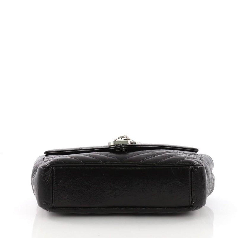 Saint Laurent Classic Monogram Punk Chain Bag Matelasse Chevron Leather  Medium For Sale at 1stdibs 90f39490d4409