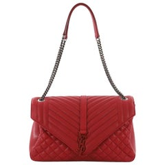 cddfde480e Saint Laurent Classic Monogram Slouchy Flap Bag Quilted Leather Large. Yves  Saint Laurent Vintage ...