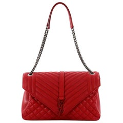 Saint Laurent Classic Monogram Slouchy Flap Bag Quilted Leather Large