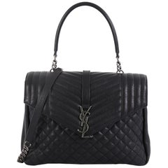 Saint Laurent Classic Monogram Slouchy Top Handle Bag Mixed Matelasse Leather