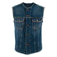 Saint Laurent Cutoff Jeans Jacket S