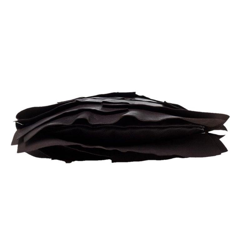 Women's Saint Laurent Dark Brown Leather Small St. Tropez Hobo For Sale