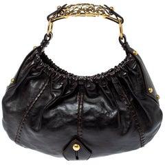 Saint Laurent Dark Brown Leather Vincennes Mombasa Hobo