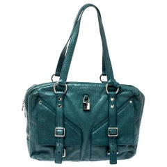 Saint Laurent Dark Green Leather Lover Bag