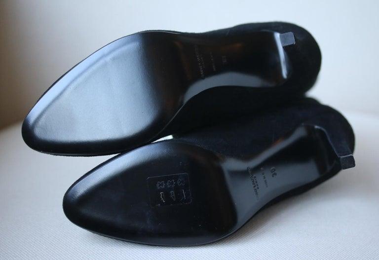 Women's Saint Laurent Debbie 100 Double-Chain Suede Ankle Boots For Sale