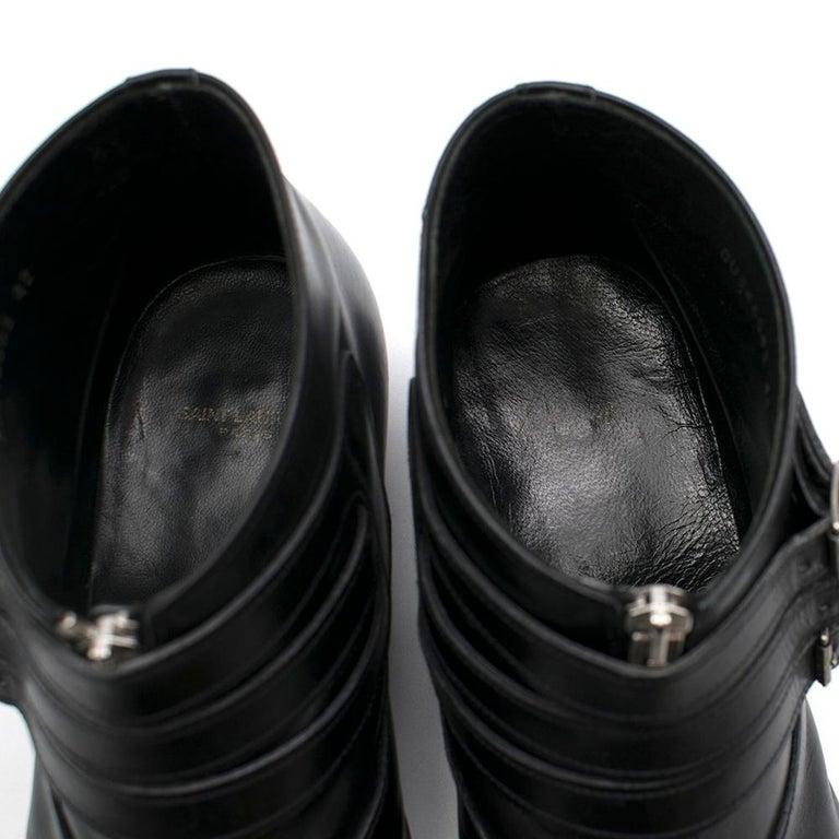 Saint Laurent Duckies 30 Triple Buckle Ankle Boot SIZE 42 For Sale 3