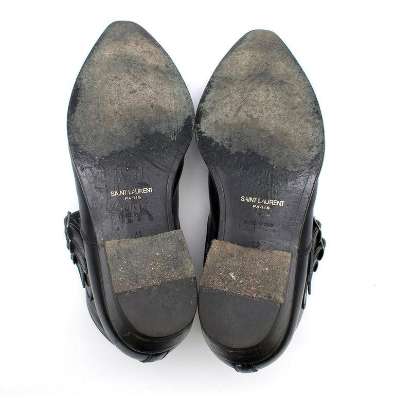 Saint Laurent Duckies 30 Triple Buckle Ankle Boot SIZE 42 For Sale 4