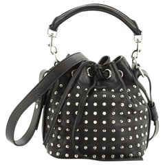 Saint Laurent Emmanuelle Bucket Bag Studded Leather Small
