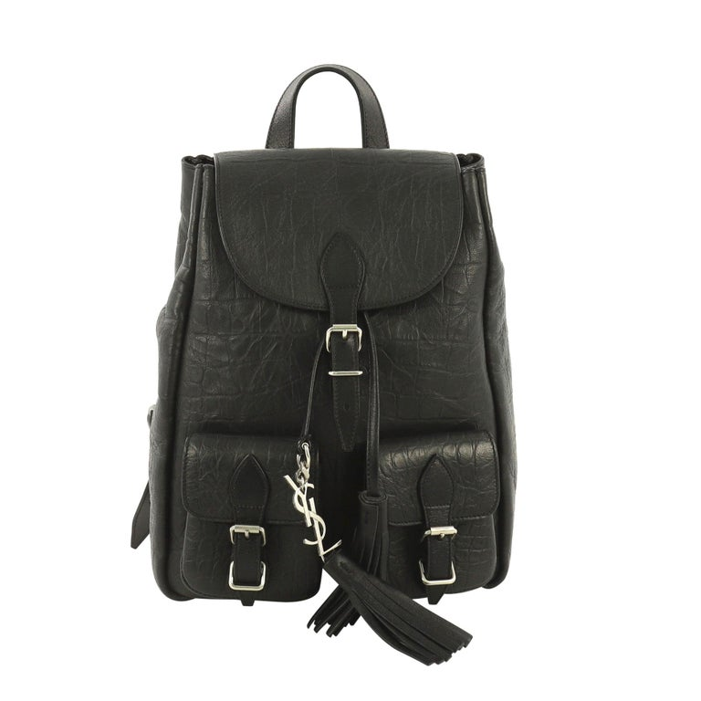 23d81d50 Saint Laurent Festival Backpack Crocodile Embossed Leather Small