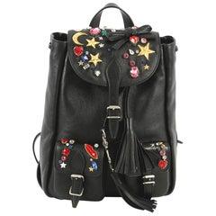 Saint Laurent Festival Backpack Embellished Leather Small