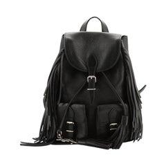 Saint Laurent  Festival Backpack Fringe Leather Small