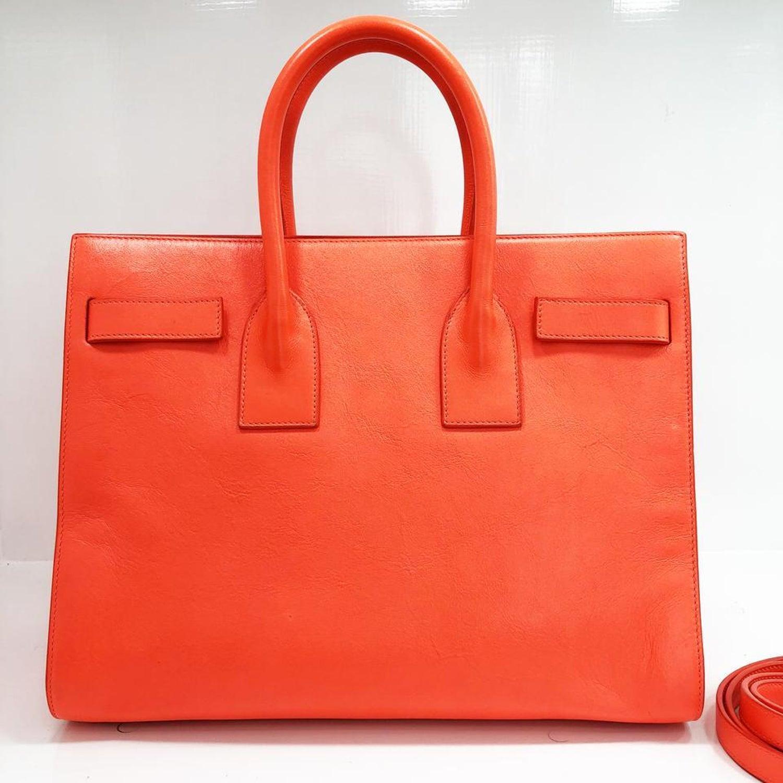 d95b819cc78d Saint Laurent Fluorescent Orange Leather Shoulder Bag For Sale at 1stdibs