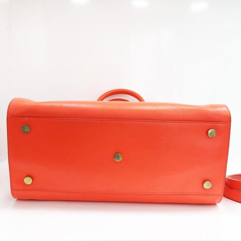 b4b548909a95 Saint Laurent Fluorescent Orange Leather Shoulder Bag For Sale at ...