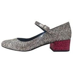 Saint Laurent Glittered Shoe IT40