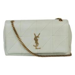 SAINT LAURENT Jamie Shoulder bag in White Leather