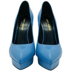 Saint Laurent Janis 105 Pumps Blue - Size 36.5