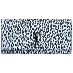Saint Laurent Kate Monogramme Printed Leather Clutch
