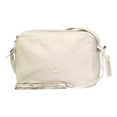 Saint Laurent Lambskin Lou Camera Bag - Ice White