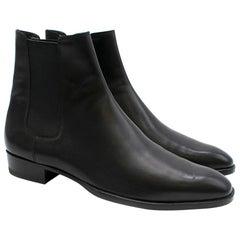 Saint Laurent Leather Chelsea Boots SIZE 41