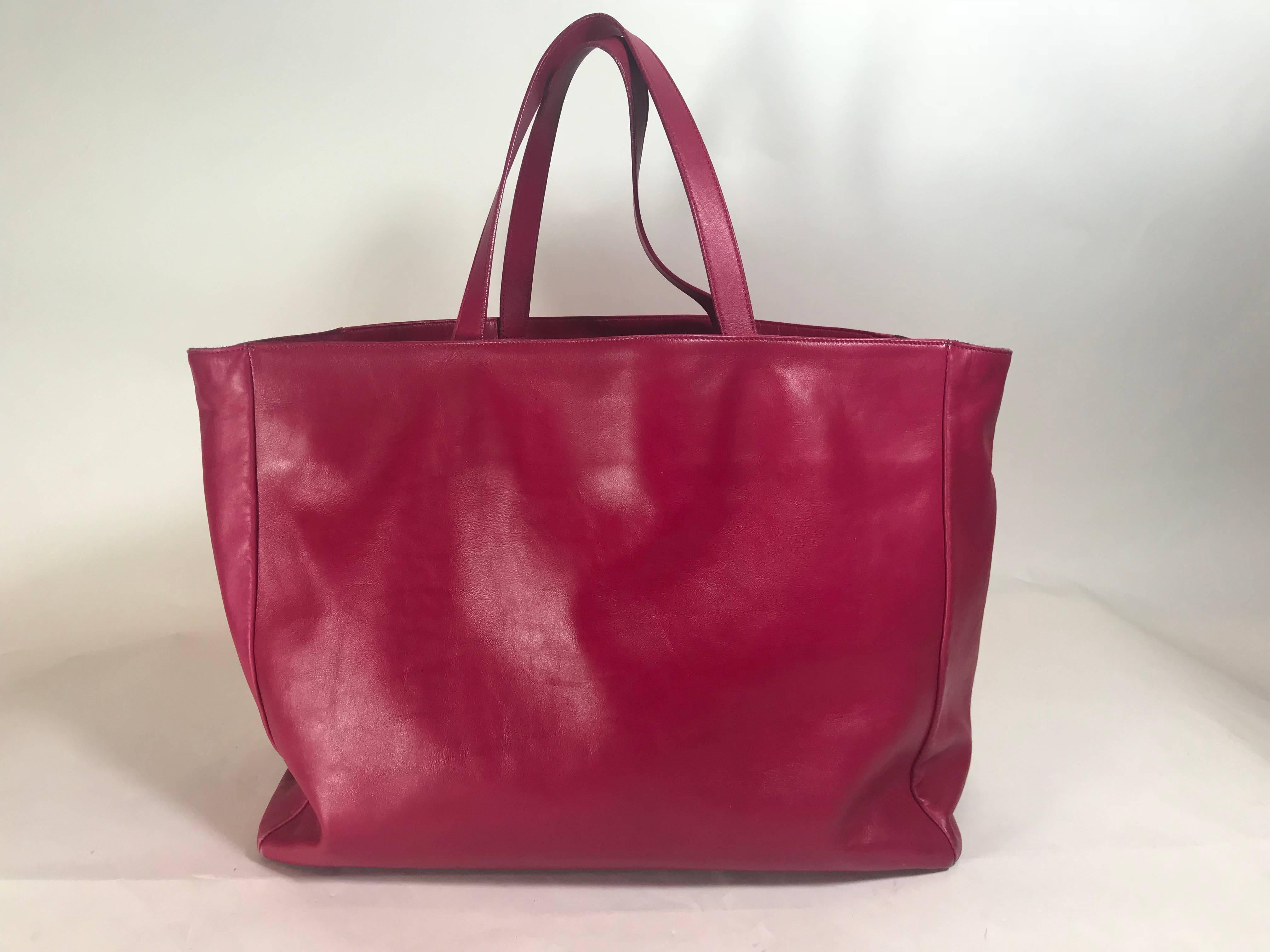 3fd7887c9bbd Saint Laurent Leather Suede Reversible Shopper Tote For Sale at 1stdibs