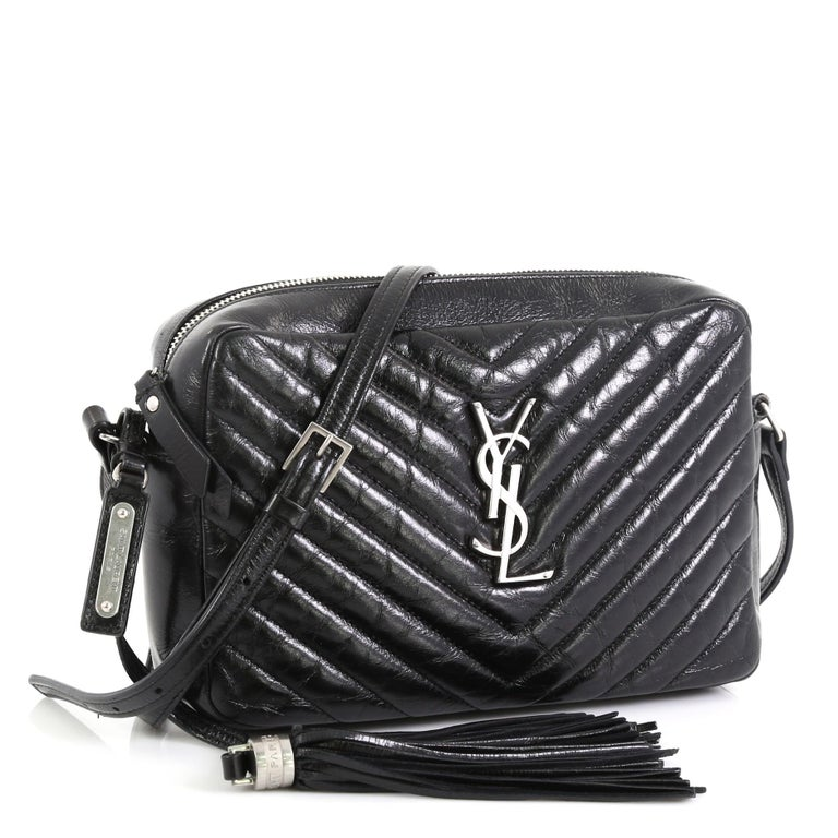 Saint Laurent Lou Camera Bag Matelasse Chevron Leather
