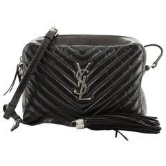 Saint Laurent Lou Camera Bag Matelasse Chevron Leather Small