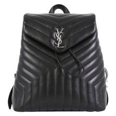 Saint Laurent LouLou Backpack Matelasse Chevron Leather Medium