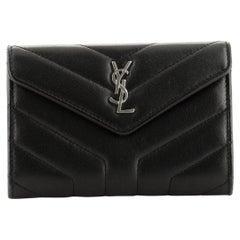 Saint Laurent LouLou Card Case Matelasse Chevron Leather