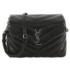 Saint Laurent LouLou Shoulder Bag Matelasse Chevron Leather Toy