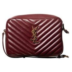 Saint Laurent Matelassé Leather Lou Camera Bag - Burgundy